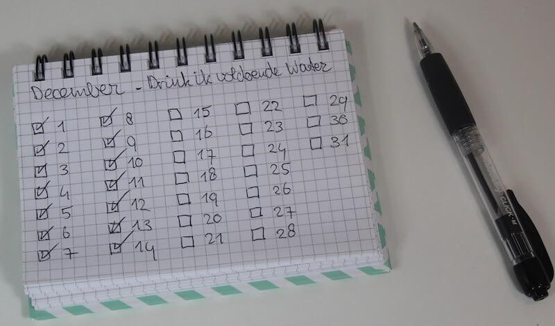 Drink ik voldoende water in mijn bullet journal